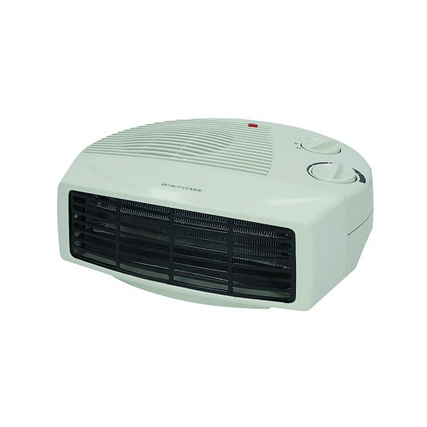 2kW Flat Fan Heater White (Two heat settings) CRHFF06/H