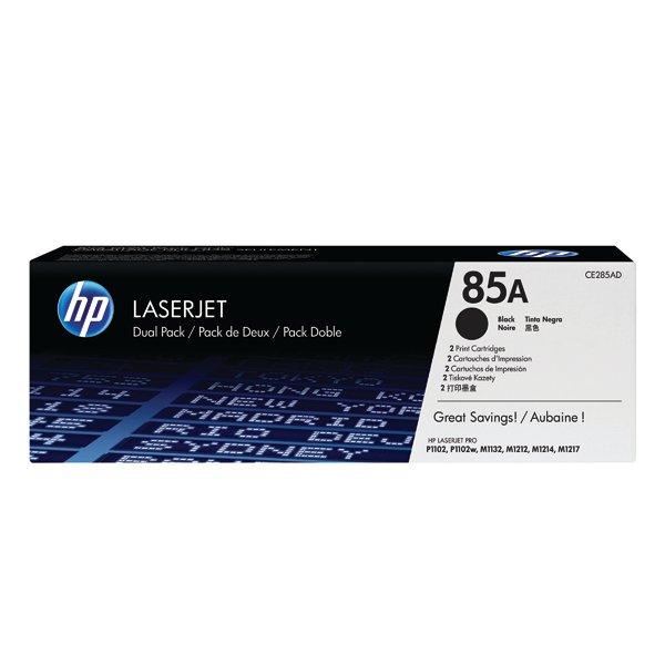 HP 85 Black LaserJet Toner Cartridge Twin Pack CE285AD