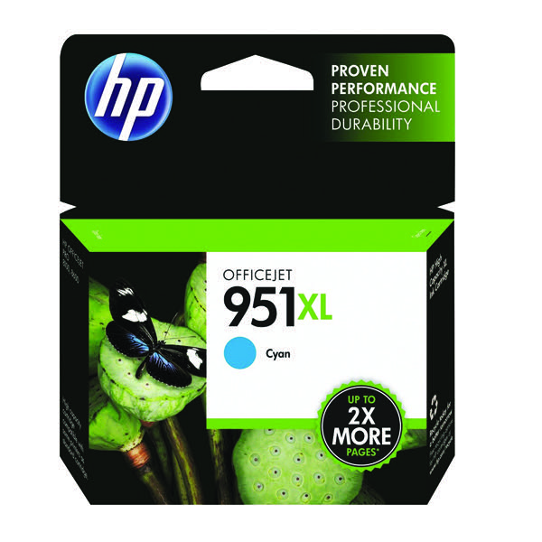 HP 951XL Cyan Officejet Inkjet Cartridge CN046AE
