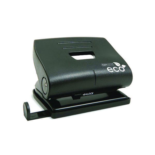 Rapesco Eco Medium Hole Punch Black 1086