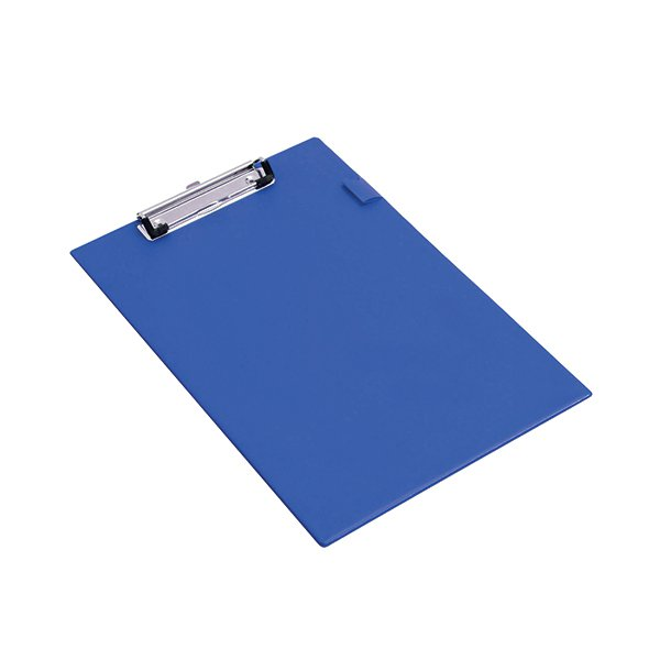 Rapesco Blue Foolscap Standard Clipboard (Convenient pen holder and hanging hole) VSTCBOL3