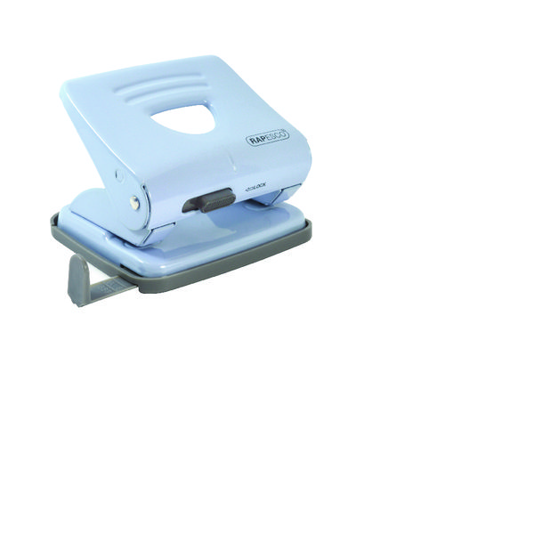 Rapesco 825 2 Hole Punch Blue with Free Stapler HT810925