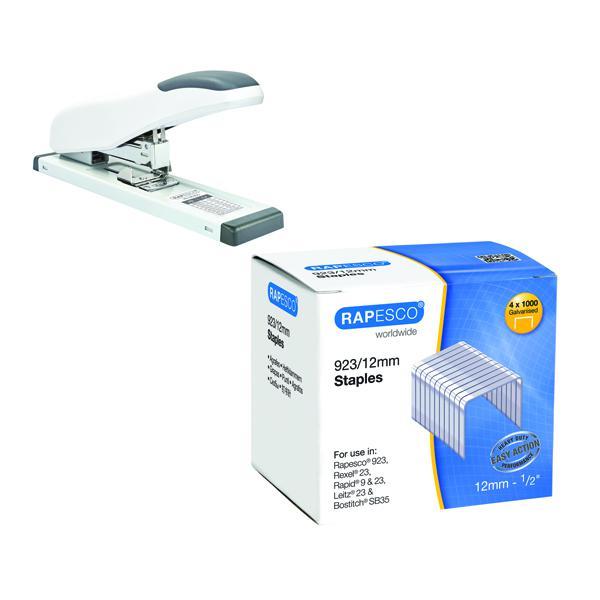 Rapesco ECO HD-100 HD Stapler FOC Rapesco 923 Series Staples P4000 12mm HT810929