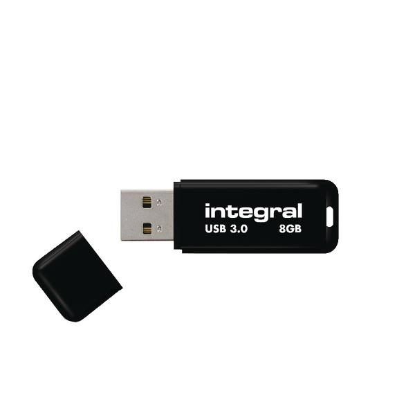 Integral Black Noir USB 3.0 8Gb Flash Drive INFD8GBNOIR3.0