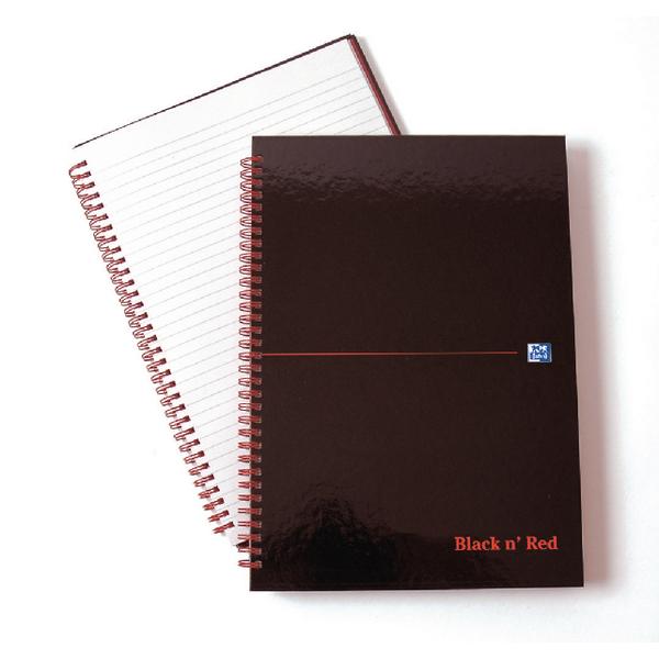 Black n' Red Polypropylene A4 Notebook Ruled Margin (2 Packs of 5) JD831000