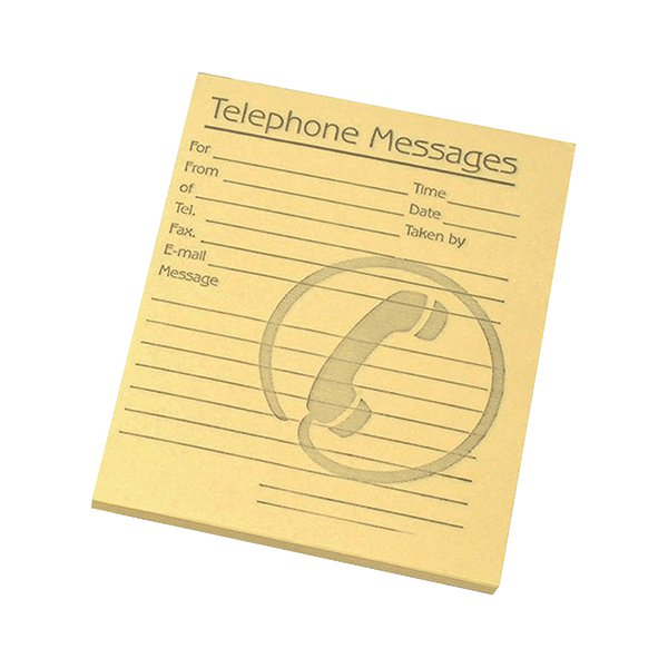 Challenge Yellow Telephone Message Pad 127 x 102mm (Pack of 10) 100080477