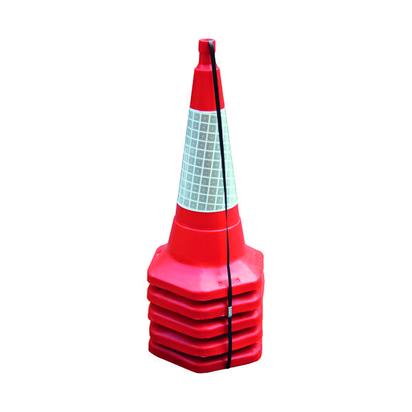 Red Standard One Piece Cone 750mm (Pack of 5) JAA060-220-615