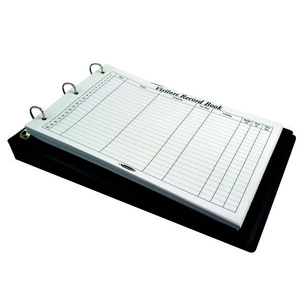 Concord Visitor Record Book Black 85710/CD14