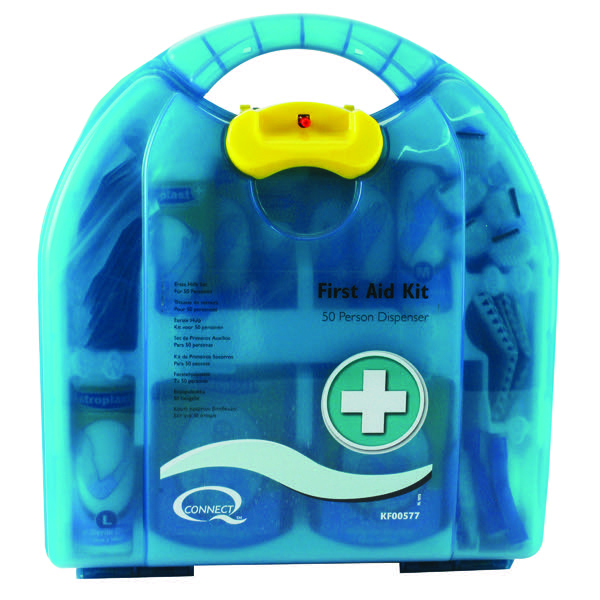 Q-Connect 50 Person Wall-Mountable First Aid Kit 1002453