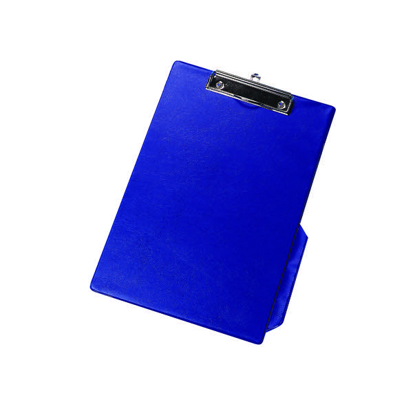 Q-Connect Blue A4/Foolscap PVC Clipboard KF01297