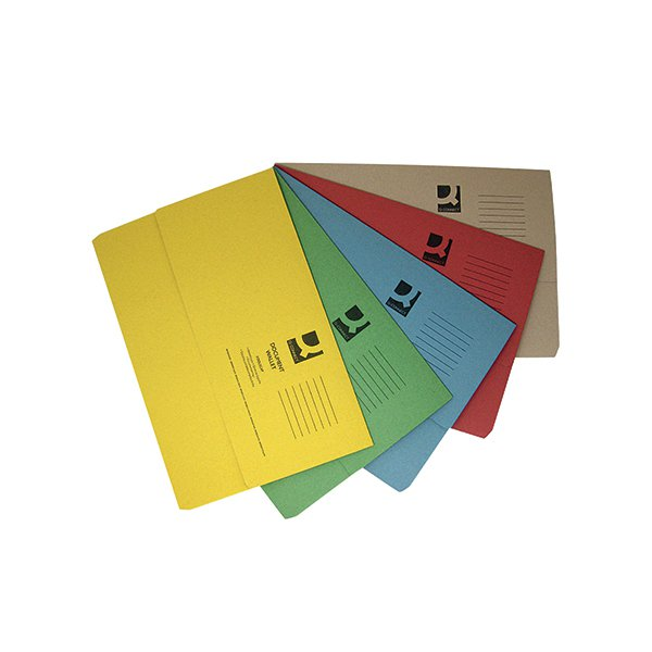 Q-Connect Foolscap Assorted Document Wallets (Pack of 50) KF01490