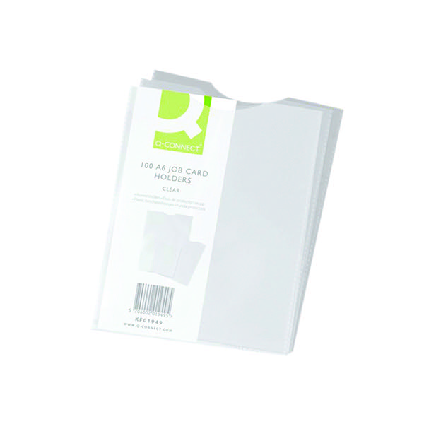 Q-Connect Card Holder Polypropylene A6 (Pack of 100) KF01949