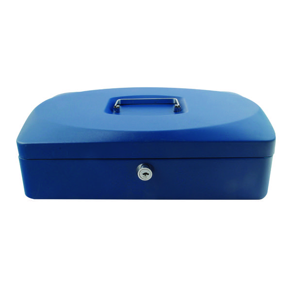 Q-Connect 12 inch Blue Cash Box KF02625