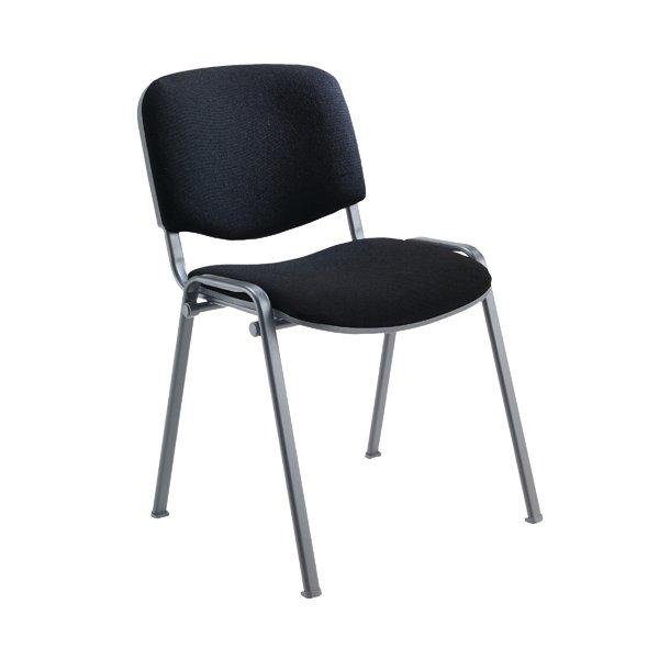 Jemini Ultra Multi Purpose Stacking Chair Charcoal/Black KF03344