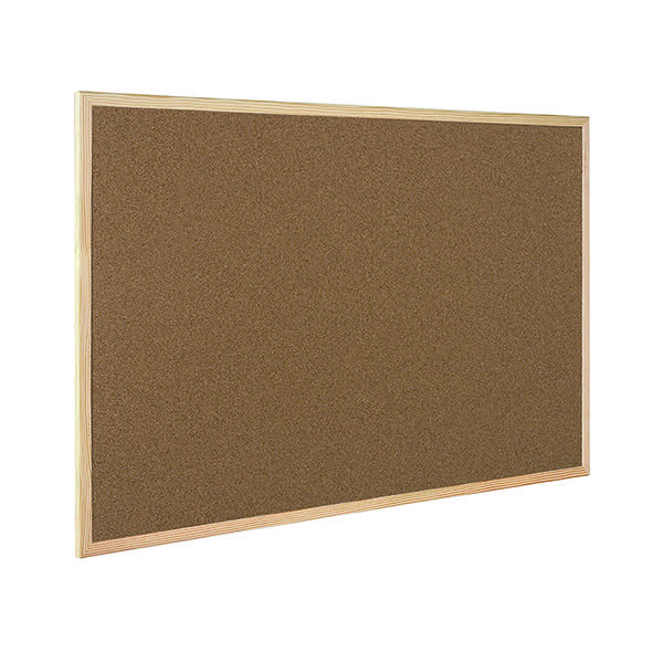 Q-Connect Cork Board Wooden Frame 400x600mm KF03566