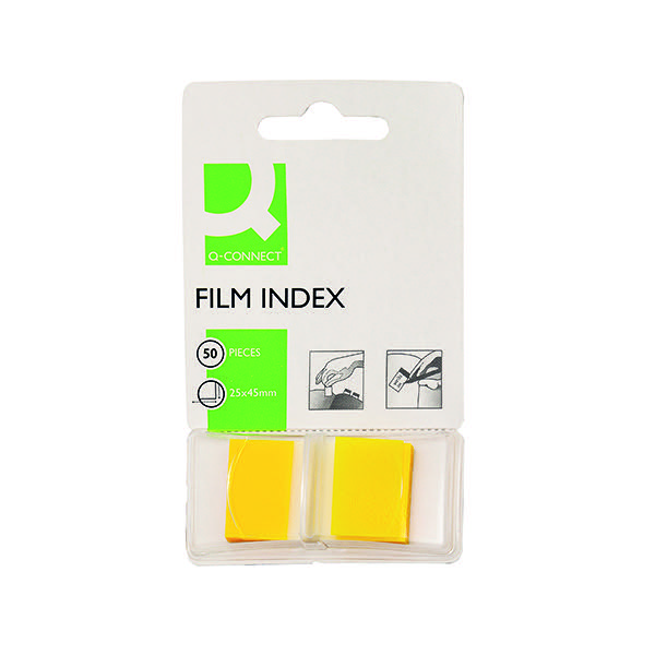 Q-Connect Yellow 1 Inch Page Marker (Pack of 50) KF03634