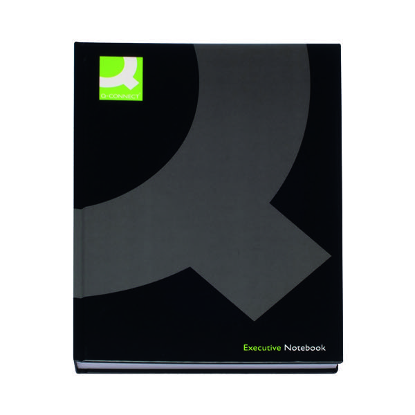 Q-Connect Hardback Casebound Notebook A4 Black (Pack of 3) KF03725