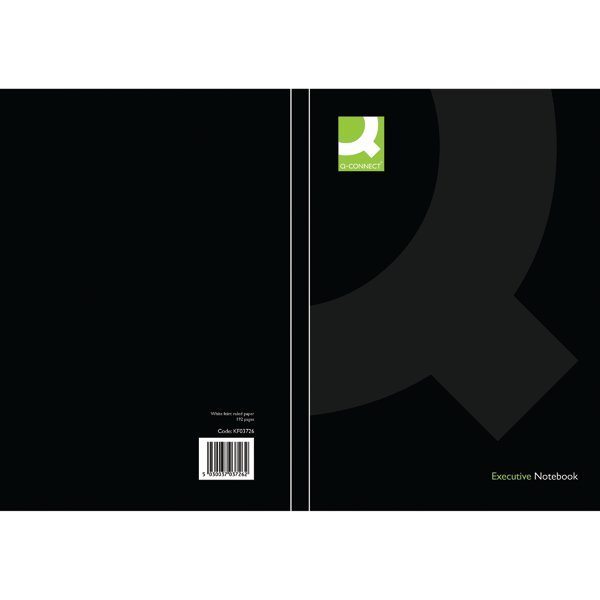 Q-Connect Black A5 Casebound Book (Pack of 3) KF03726