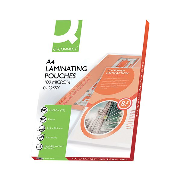Q-Connect Laminating Pouch A4 100micron Pk 100 KF04115