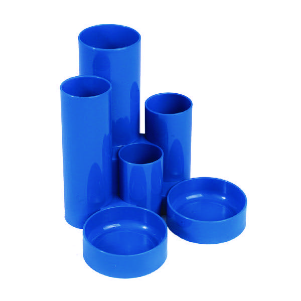 Q-Connect Blue Tube Desk Tidy MPTUBKPBLU