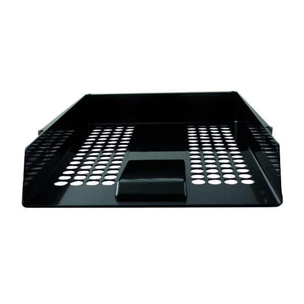 Q-Connect Black Plastic Letter Tray CP159KFBLK