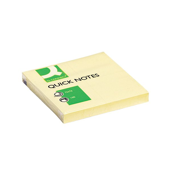Q-Connect Quick Notes 76 x 76mm Yellow (Pack of 12) KF10502