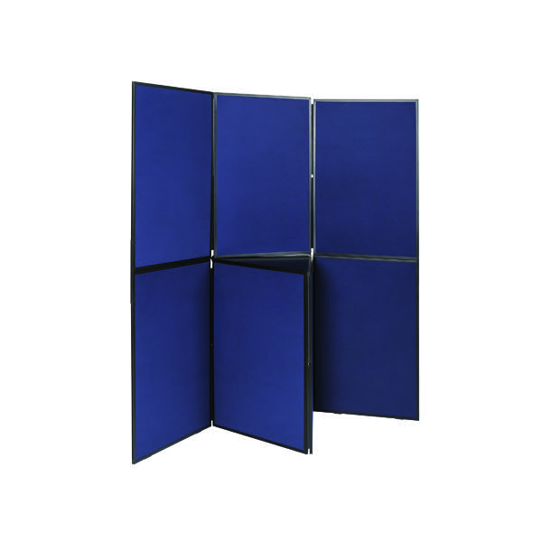 Q-Connect Display Board 7 Panel Blue /Grey DSP330517