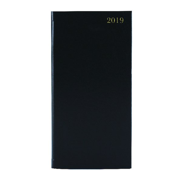 Week to View 2019 Portrait Black Slim Diary KF1BK19