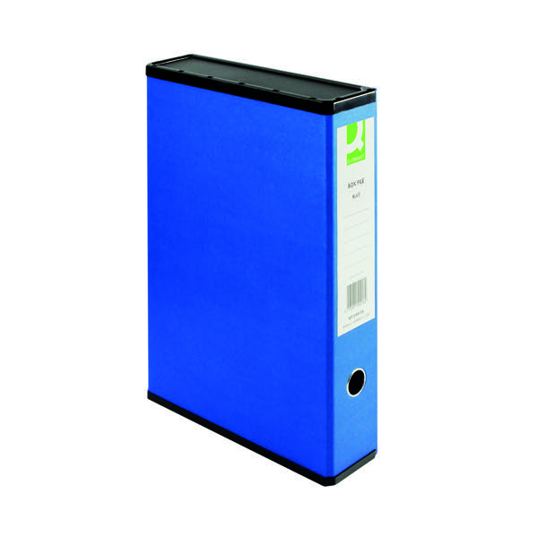 Q-Connect Box Foolscap File Blue 31813KIN0