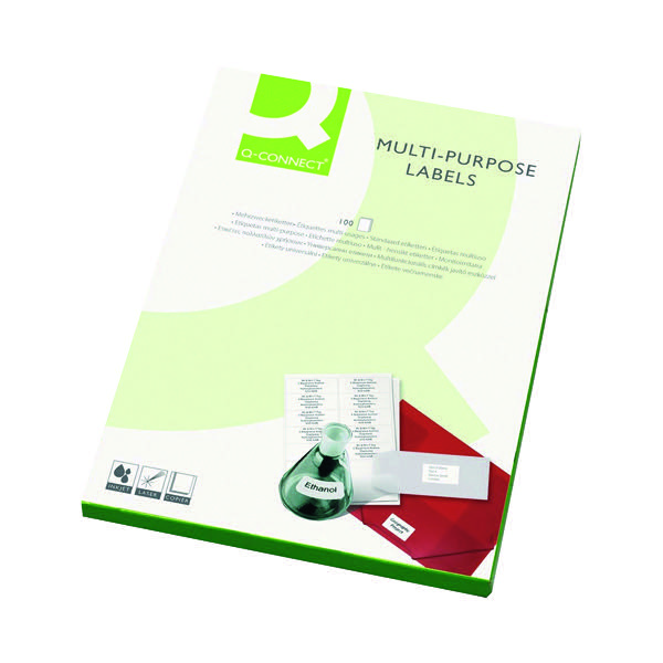 Q-Connect Multipurpose Labels 199.6x143.5mm 2 Per Sheet White (Pack of 200) KF26056