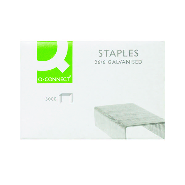 5000 x Q-Connect Staples 26/6mm (Precision engineered quality) KF27001