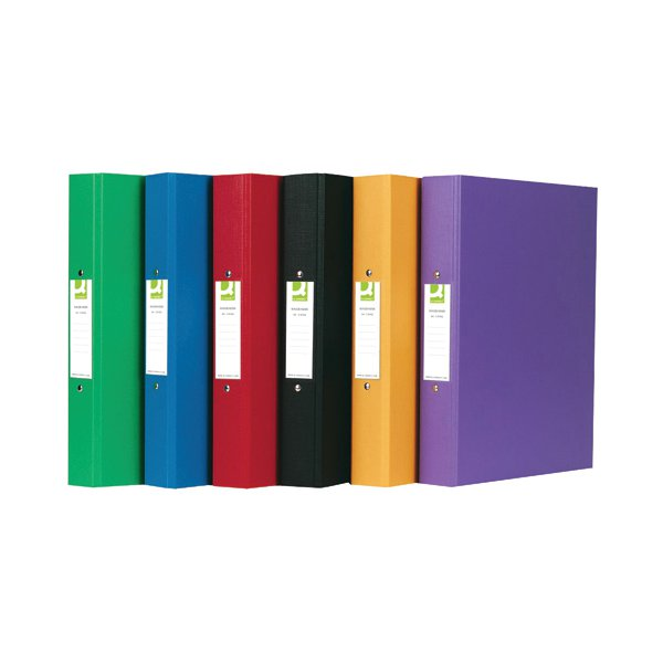 Q-Connect 25mm 2 Ring Binder Polypropylene A4 Assorted (Pack of 10) KF71446