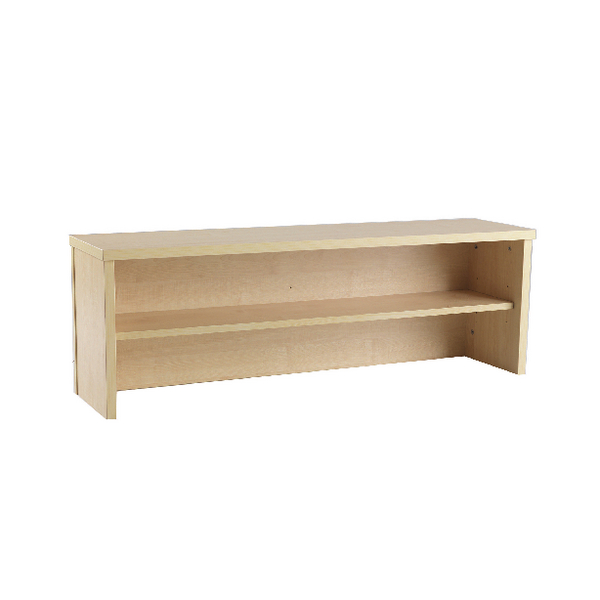 Jemini Intro 1200mm Reception Desk Riser Warm Maple KF73525