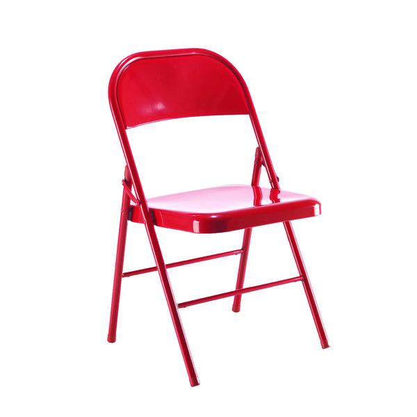 Jemini Metal Folding Chair Red KF73587