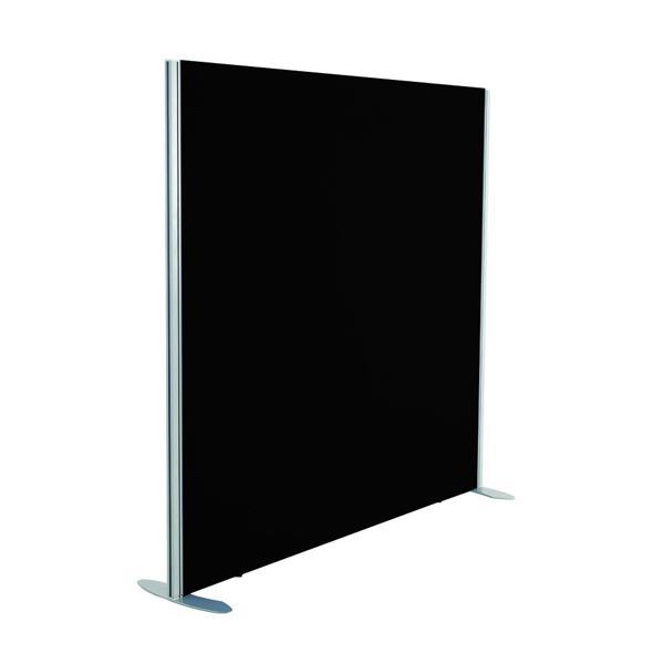 Jemini Black 1200x800 Floor Standing Screen Including Feet KF74323
