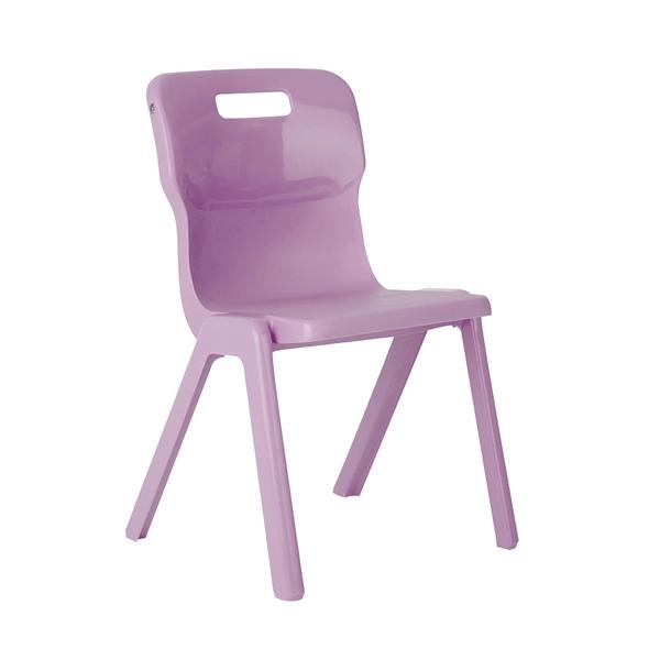 Titan One Piece School Chair Size 1 Purple KF78505