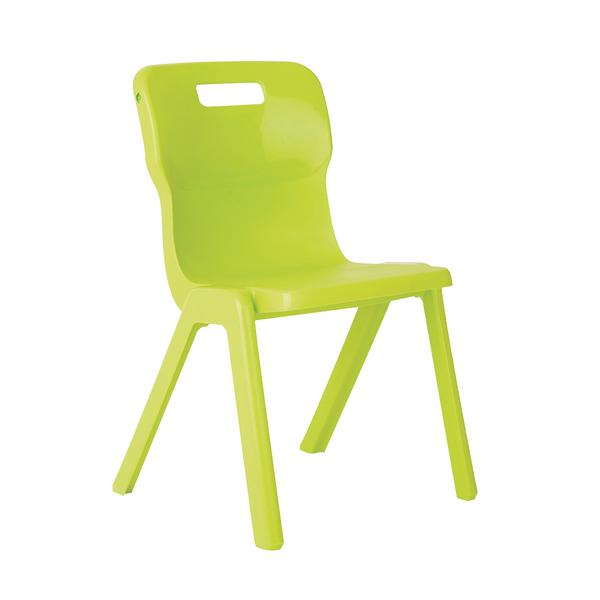 Titan One Piece School Chair Size 1 Lime KF78508