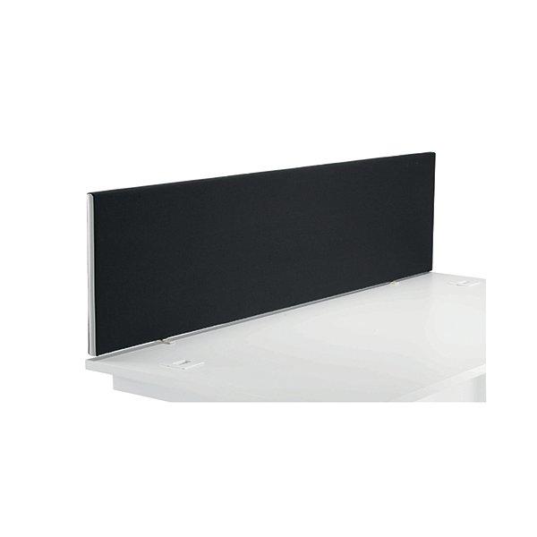 Jemini Black 1800mm Straight Mounted Desk Screen KF79002