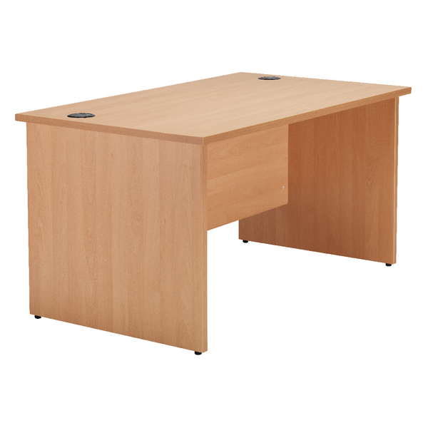 Jemini Beech 1200mm Panel End Rectangular Desk KF838084