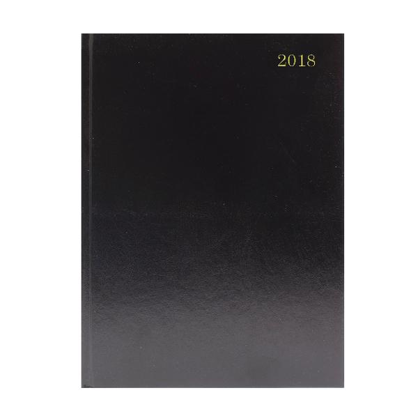 A5 Day/Page 2018 Black Desk Diary KFA51BK18