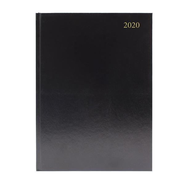 Desk Diary A5 Day Per Page 2020 Black (Reference calendar on each page) KFA51BK20