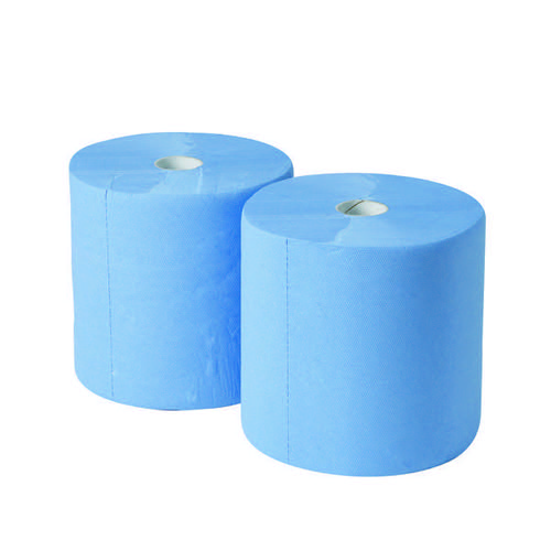 2Work 3-Ply Industrial Roll 170m Blue (Pack of 2) GEM503B