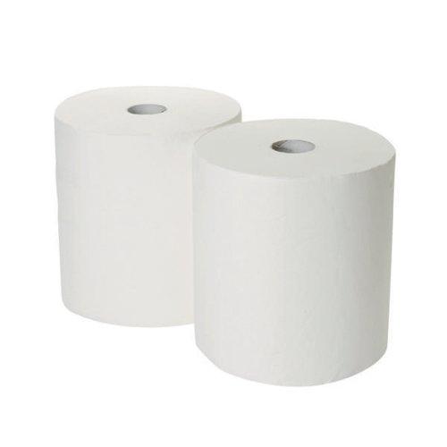 2Work 170mx250mm White Indust Roll Pk2