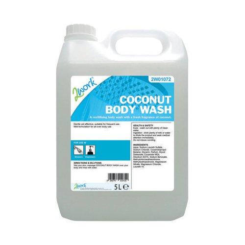 2Work Coconut Body Wash 5 Litre