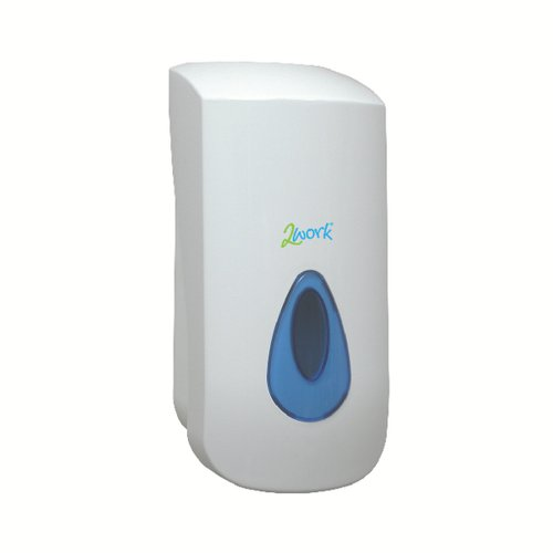 2Work Foam Soap Dispenser with 900ml Reservoir White 2W01102