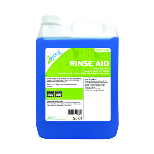 2Work Rinse Aid Additive 5 Litre 451