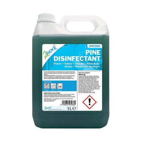 2Work Pine Disinfectant 5Ltr Bottle