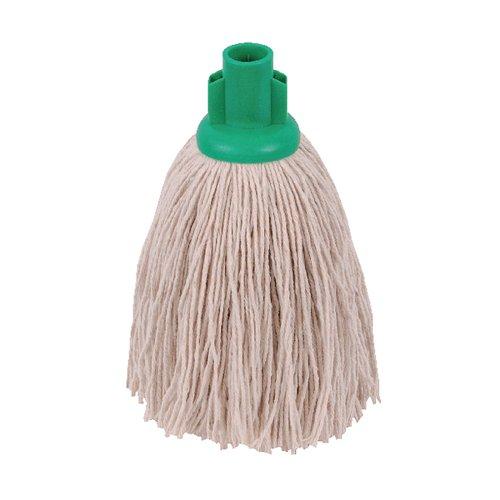 2Work 12Oz Twine Rough Mop Green Pk10