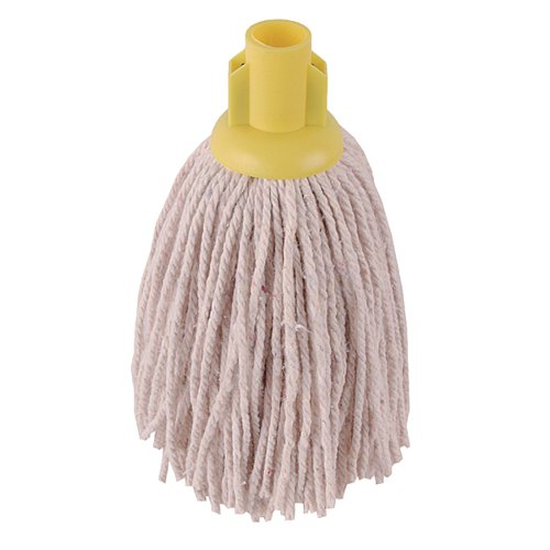 2Work 12oz PY Smooth Socket Mop Yellow (Pack of 10) 101869