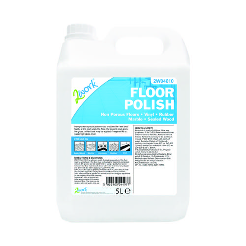 2Work Floor Polish 5 Litre